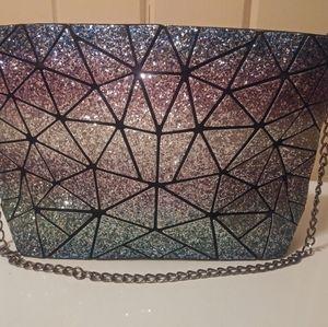 luminous glitter ombre Lingge Chain Bag